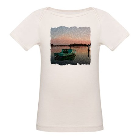 Sunset Boat Organic Baby T-Shirt