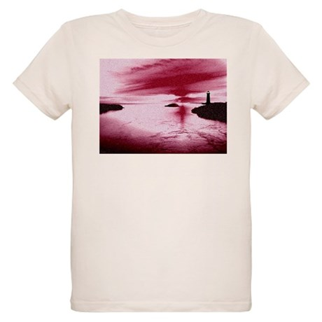 Lighthouse Sunset Organic Kids T-Shirt