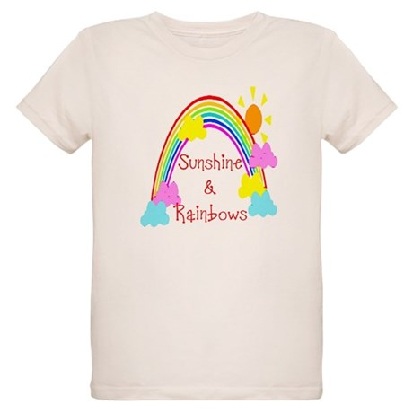 Sunshine Rainbows Organic Kids T-Shirt