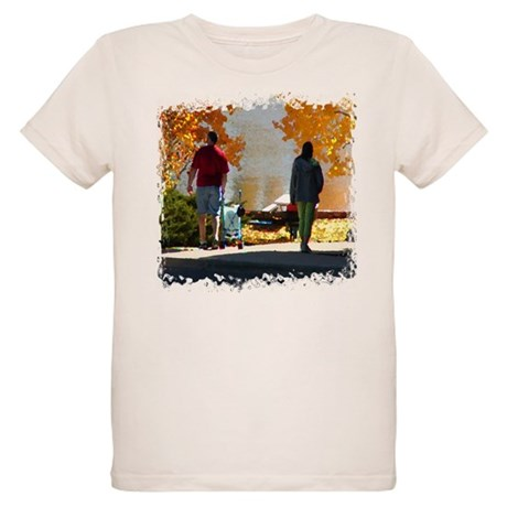 Early Autumn Stroll Organic Kids T-Shirt