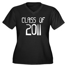 Class of 2011 Women's Plus Size V-Neck Dark T-Shir