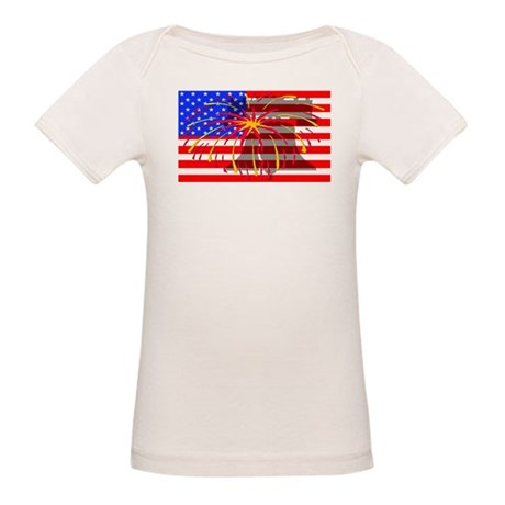 4th of July Independence Organic Baby T-Shirt
