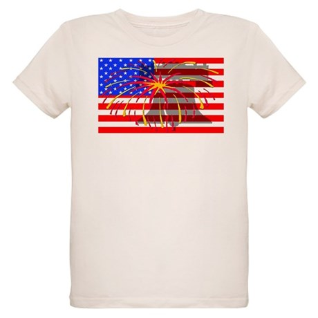 4th of July Independence Organic Kids T-Shirt