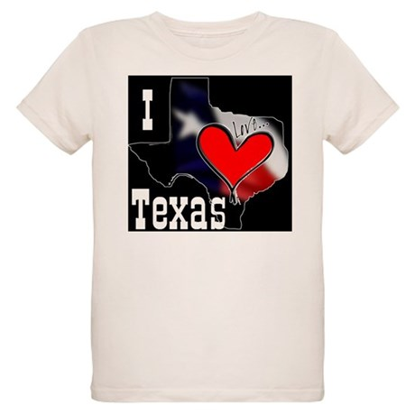 I Love Texas Organic Kids T-Shirt