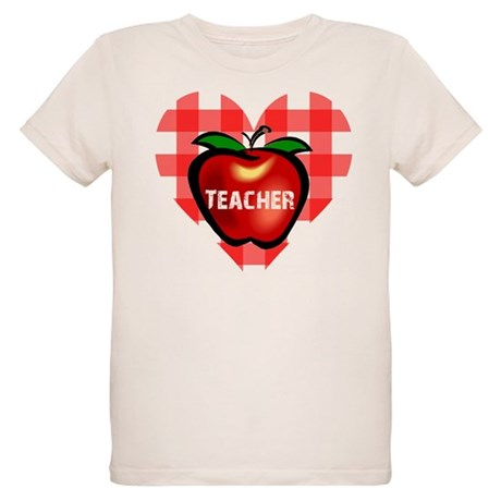 Teacher Heart Apple Organic Kids T-Shirt