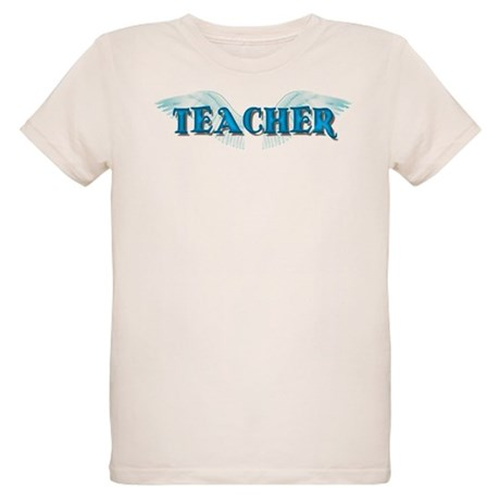 Angel Wings Teacher Organic Kids T-Shirt