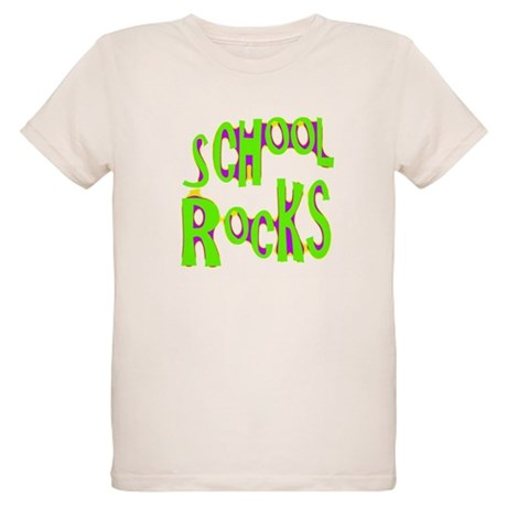 School Rocks - Lime Organic Kids T-Shirt