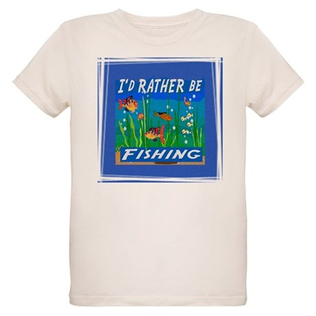 Rather be Fishing Organic Kids T-Shirt