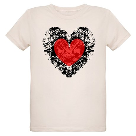 Pretty Grunge Heart Organic Kids T-Shirt