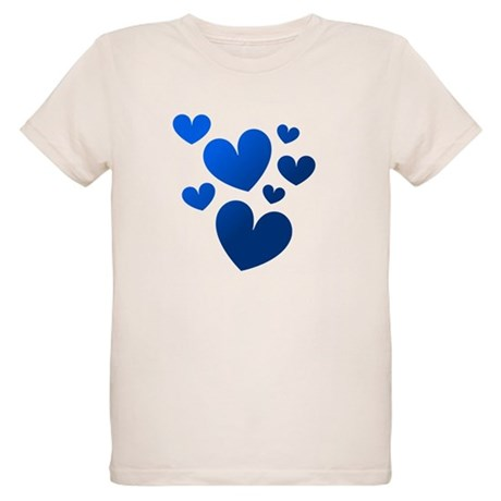 Blue Valentine Hearts Organic Kids T-Shirt