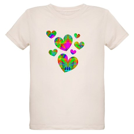 Kaleidoscope Hearts Organic Kids T-Shirt