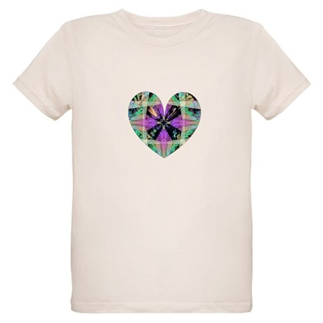 Kaleidoscope Heart Organic Kids T-Shirt