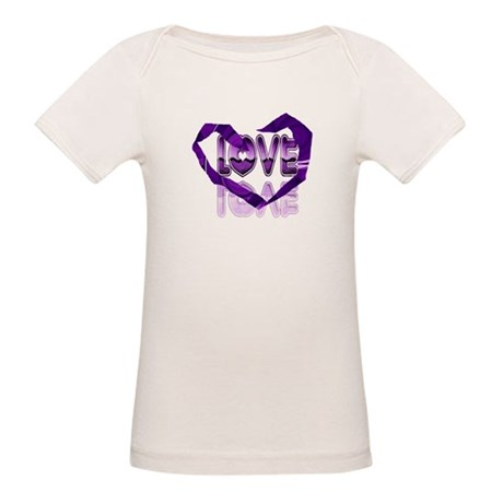 Abstract Love Heart Organic Baby T-Shirt