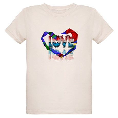 Abstract Love Heart Organic Kids T-Shirt