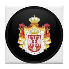 Coat of Arms of Serbia Tile Coaster