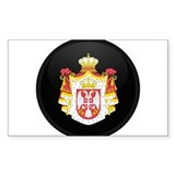 Coat of Arms of Serbia Rectangle Decal
