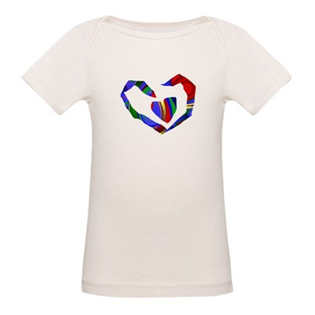 Abstract Heart Organic Baby T-Shirt