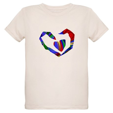 Abstract Heart Organic Kids T-Shirt