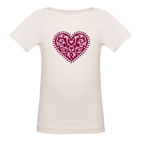 Fancy Heart Organic Baby T-Shirt