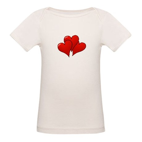 Three Hearts Organic Baby T-Shirt