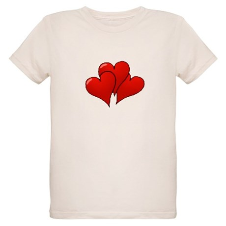 Three Hearts Organic Kids T-Shirt