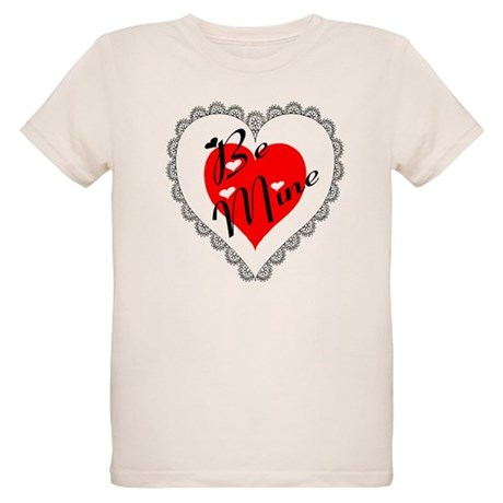 Lacy Heart Organic Kids T-Shirt