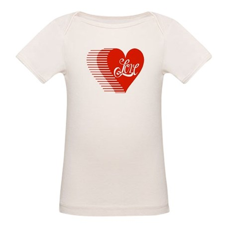 Love Heart Organic Baby T-Shirt