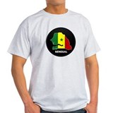 Flag Map of senegal T-Shirt