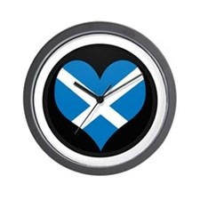 I love Scotland Flag Wall Clock