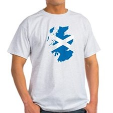 Scotland Flag Map T-Shirt