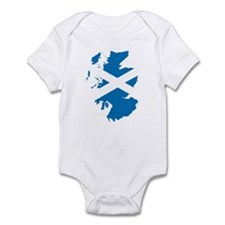 Scotland Flag Map Infant Bodysuit