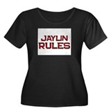 jaylin rules Women's Plus Size Scoop Neck Dark T-S