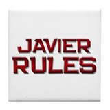 javier rules Tile Coaster
