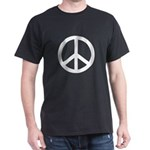 Basic Peace Symbol on a Black T-Shirt