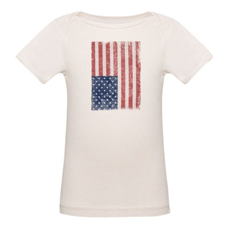 Distressed American Flag Organic Baby T-Shirt