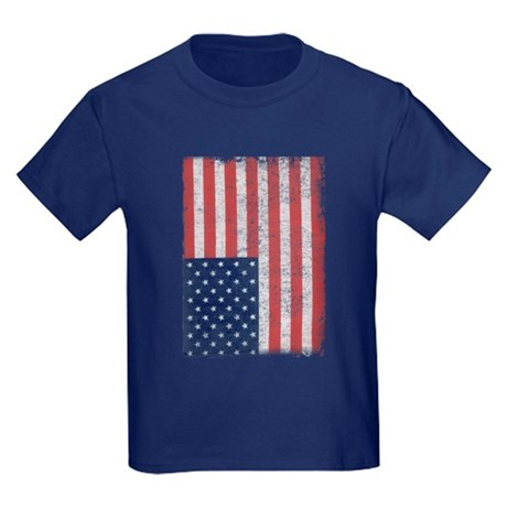 Distressed American Flag Kids T-Shirt