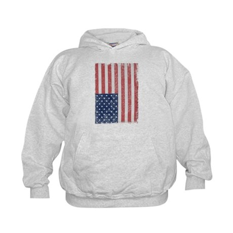 Distressed American Flag Kids Hoodie