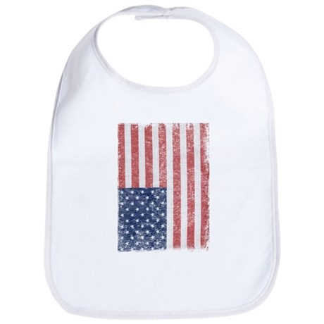 Distressed American Flag Bib