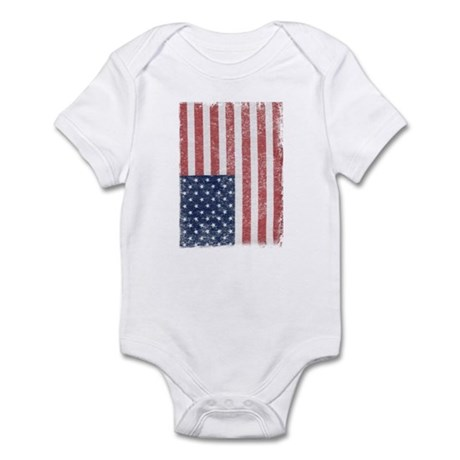 Distressed American Flag Infant Bodysuit