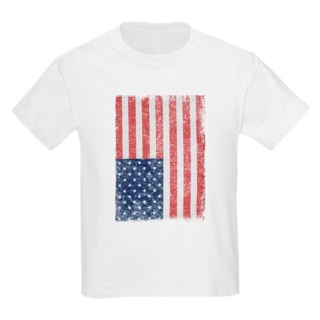 Distressed American Flag Kids Light T-Shirt