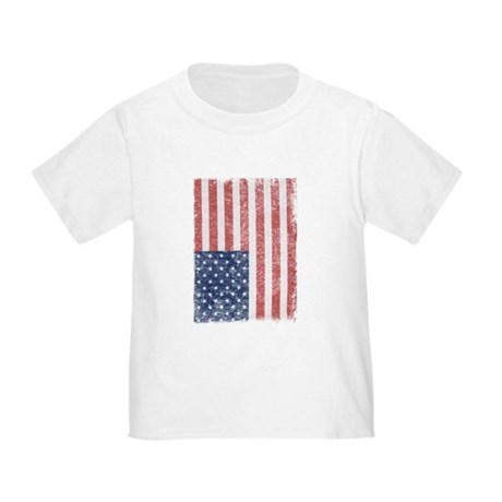 Distressed American Flag Toddler T-Shirt