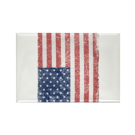 Distressed American Flag Rectangle Magnet