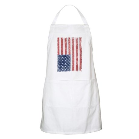 Distressed American Flag BBQ Apron