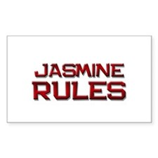 jasmine rules Rectangle Decal