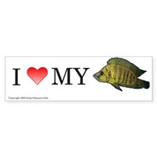 I Love My Lamp Compressiceps Bumper Bumper Sticker