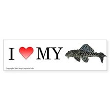 I Love My Pleco Bumper Bumper Sticker