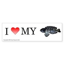 I Love My Meleagris Bumper Bumper Sticker