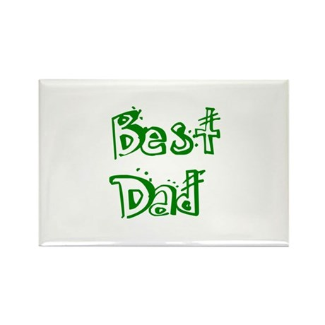 Father's Day Best Dad Rectangle Magnet (10 pack)