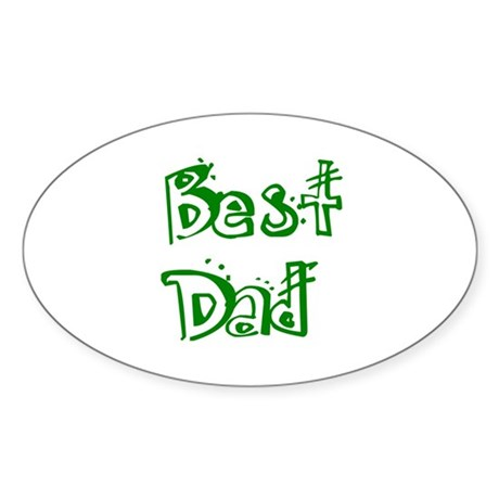 Father's Day Best Dad Oval Sticker (10 pk)