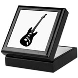 Guitar Silhouette Keepsake Box